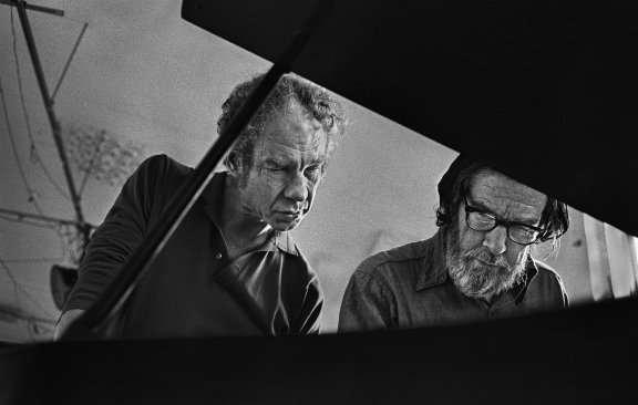 Merce Cunningham et John Cage, Westbeth, 1972 © James Klosty